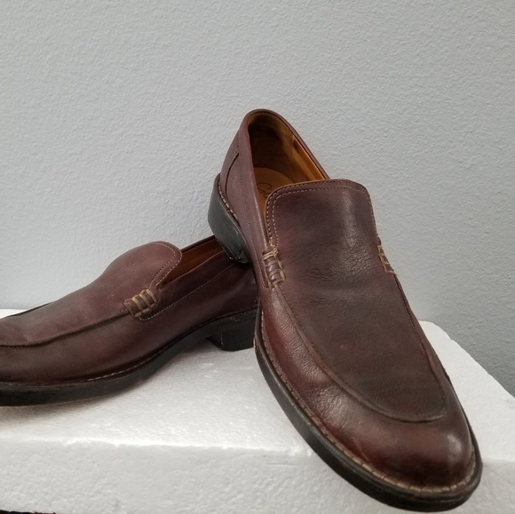 c7e8348930358 Cole Haan C05655 Brown Stitched Moc Loafers 11.5